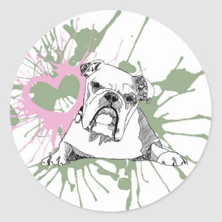 Bulldog Classic Round Sticker