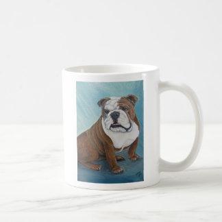 Bulldog Classic White Coffee Mug
