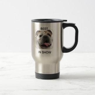 bulldog coffee travel mug
