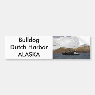 Bulldog, Crab Boat in Dutch Harbor, Alaska Car Bumper Sticker
