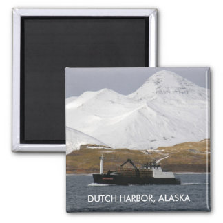 Bulldog, Crab Boat in Dutch Harbor, Alaska Magnet