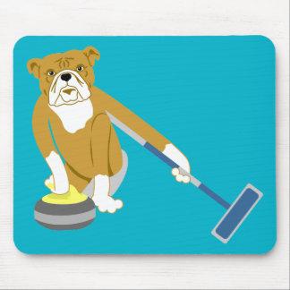 Bulldog Curling Mouse Pad