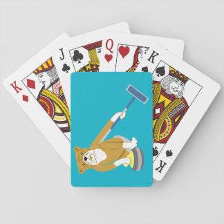 Bulldog Curling Poker Deck