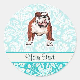 Bulldog; Cute Classic Round Sticker