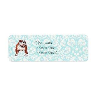 Bulldog Cute Custom Return Address Labels