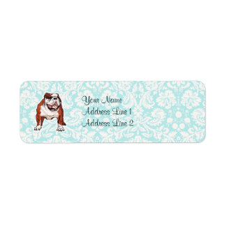 Bulldog; Cute Custom Return Address Labels