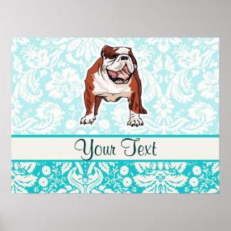 Bulldog; Cute Poster
