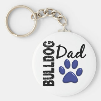 Bulldog Dad 2 Keychain