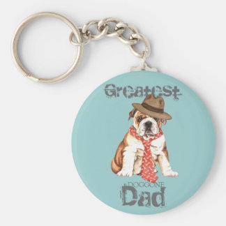 Bulldog Dad Keychain