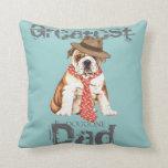 Bulldog Dad Throw Pillows