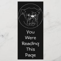 Bulldog Dark Bookmark Template