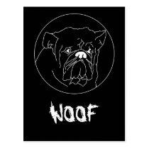 Bulldog Dark Postcard Template