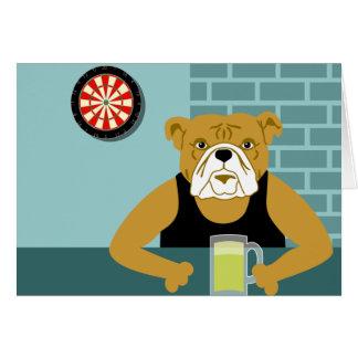 Bulldog Dartboard Beer Bar Card