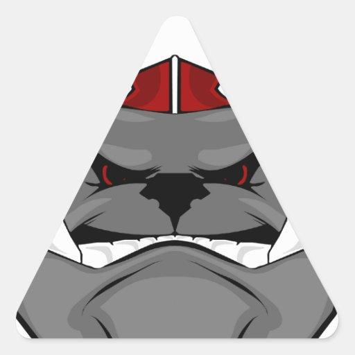 bulldog days triangle sticker