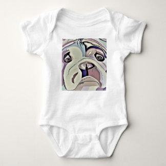 Bulldog Denim Colors Baby Bodysuit