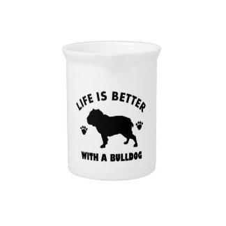Bulldog design drink pitchers