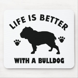 Bulldog design mouse pad
