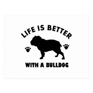 Bulldog design postcard