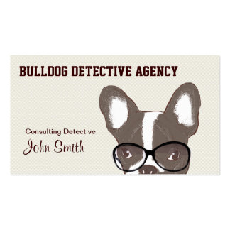 Bulldog Detective Agency Business Card