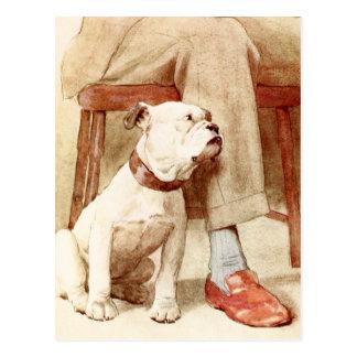 Bulldog - Devoted and Loyal Friend Postcard
