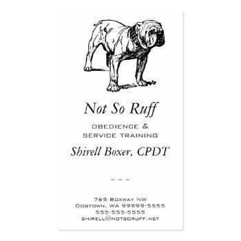 Bulldog Dog Breeder Business Business Card Template