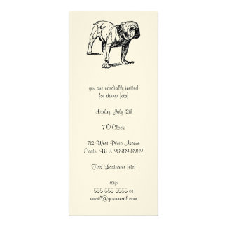 Bulldog Dog Business Card