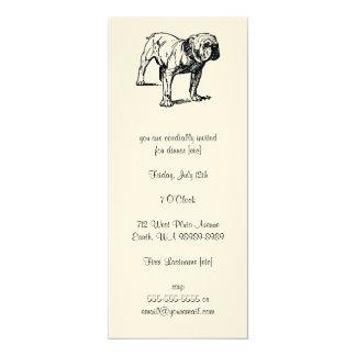 """Bulldog Dog Business 4"""" X 9.25"""" Invitation Card"""