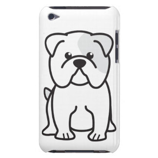Bulldog Dog Cartoon Barely There iPod Case