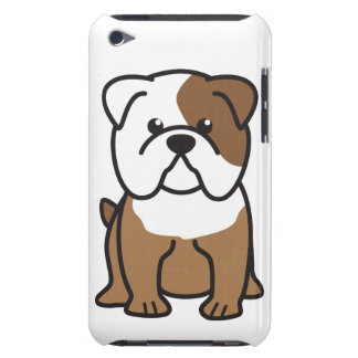 Bulldog Dog Cartoon Barely There iPod Cover