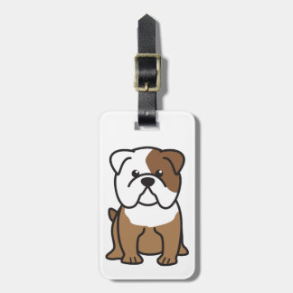 Bulldog Dog Cartoon Luggage Tag