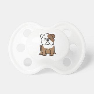 Bulldog Dog Cartoon Pacifier