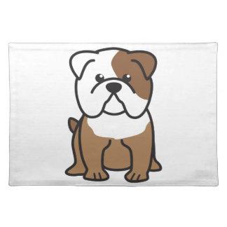 Bulldog Dog Cartoon Placemat