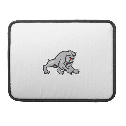Bulldog Dog Mongrel Prowling Cartoon Sleeves For MacBooks