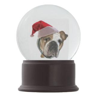 Bulldog Dog Snowglobe Christmas Gift