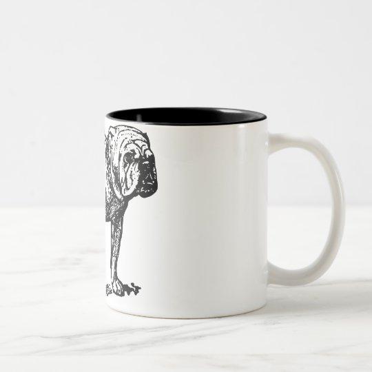 Bulldog Dog Two-Tone Coffee Mug