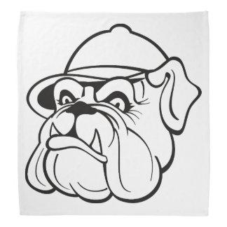 Bulldog drawing bandanna