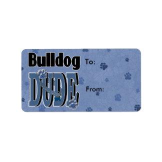 Bulldog DUDE Label