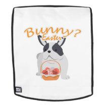 Bulldog Easter Funny for Boys Girls Love Dog Puppy Backpack