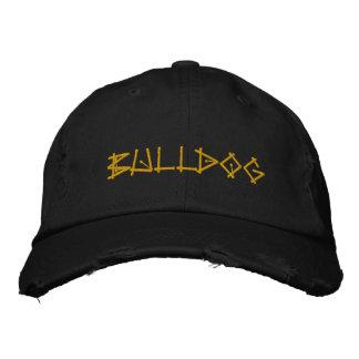 BULLDOG EMBROIDERED BASEBALL HAT