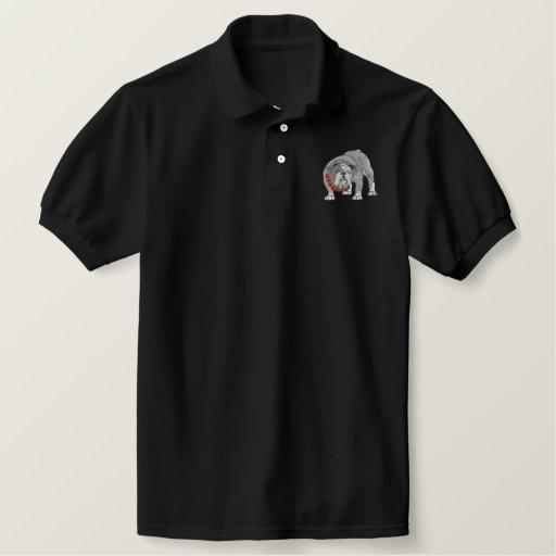 Bulldog Embroidered Polo Shirt