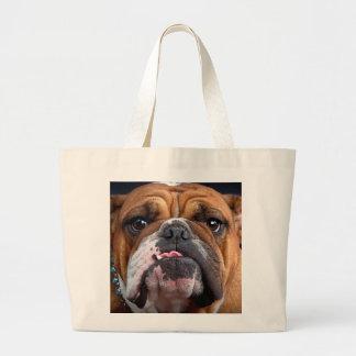 Bulldog English Bad Face Large Tote Bag