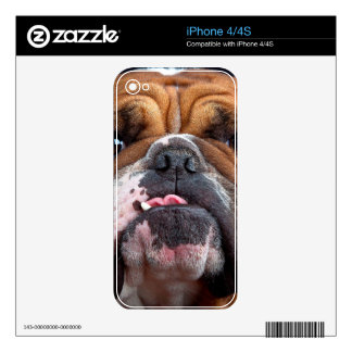Bulldog English Bad Face Decals For The iPhone 4S