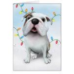 Bulldog (English) Christmas Card