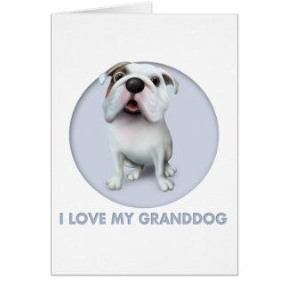 Bulldog (English) Granddog Card