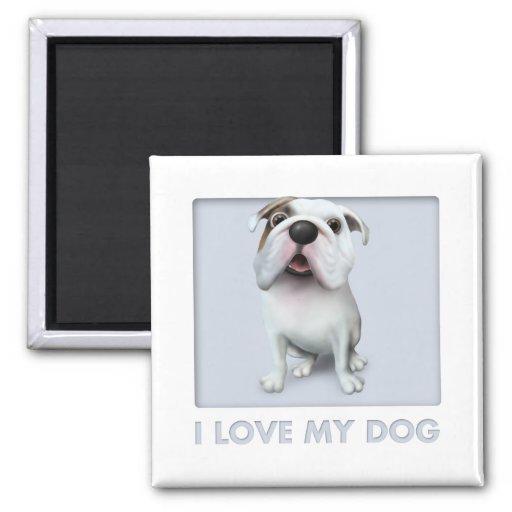 Bulldog (English) Love Refrigerator Magnet