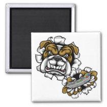 Bulldog Esports Gamer Mascot Magnet