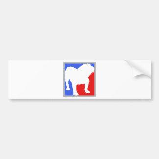 Bulldog exclusive design bumper sticker