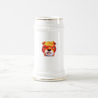 Bulldog Face3 Vero Beach The MUSEUM Zazzle Gifts 2 Beer Stein