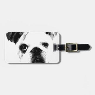 Bulldog Face Cute Big Eyed Bulldog Tags For Luggage