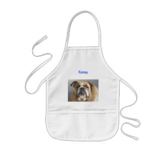 Bulldog Face - English Bulldog, Brown Kids' Apron